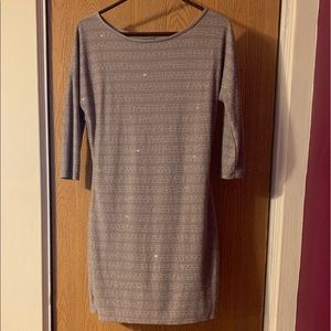 Tan Express long sleeved mini dress